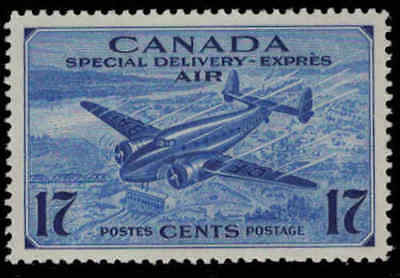 Canada 1943 17¢ Airmail Special Delivery Mint Never Hinged