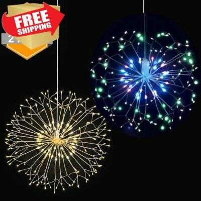 Firework LED String Hang Starburst Fairy Strip Light Wedding Party Home Decor MY