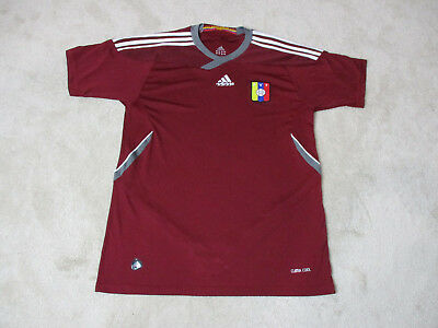95a3939f4 Adidas Venezuelan Soccer Jersey Adult Large Red White Dri Fit Futbol Mens