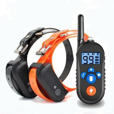 Anti-Bark Electric Shock Puppy Pet Training Dog Collar Remote Control Obedience
