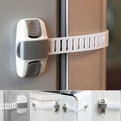 Adjustable Fridge Guard Baby Safety Door Closet Wardrobe Latch Child Lock Reliab