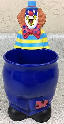 """Ringling Brothers & Barnum and Bailey Circus 8"""" Clown Cup  Snack Holder Blue Mug"""