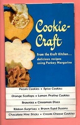 """collectible KRAFT PARKAY AD booklet """"Cookie Craft"""" pre-1963. 10pp. Smoke-free."""