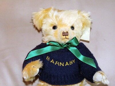 Barnaby Bear Merrythought UK Jointed Mohair, LNW tags