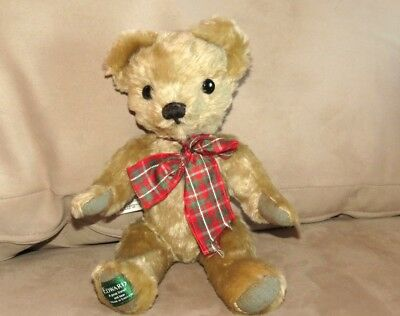 "Excellent Antique Vintage Merrythought, UK Mohair Jointed Bear Edward 12"" tags"