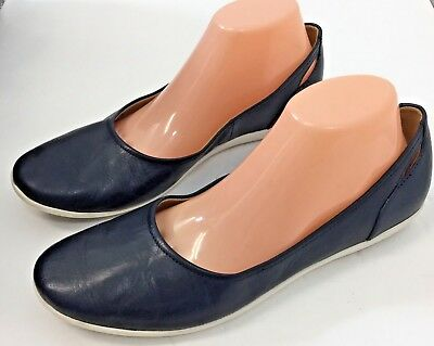 Clarks Collection Shoes Soft Cushion Women's Navy Blue Slip On Comfort 10 W