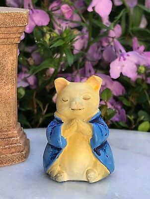 "Miniature FAIRY GARDEN ~ Tiny 1¼"" ZEN Buddha Animal Anjali Mudra PIG"