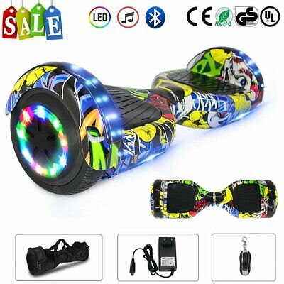 "Hoverboard 6.5"" Led Bluetooth Speaker Scooter Overboard Monopattino Street @rx"