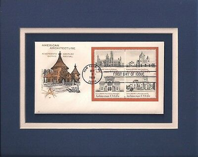 19th CENTURY GOTHIC REVIVAL ARCHITECTURE - FRAMEABLE POSTAGE STAMP ART - 0849