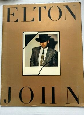 Elton John Breaking Hearts World Tour Program 1984