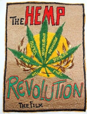 THE HEMP REVOLUTION the Film 8X11 inch EMBROIDERED PATCH