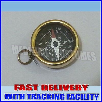 LOT OF 10 PCS MARITIME NAUTICAL VINTAGE STYLE BRASS POCKET COMPASS KEYCHAIN rb68