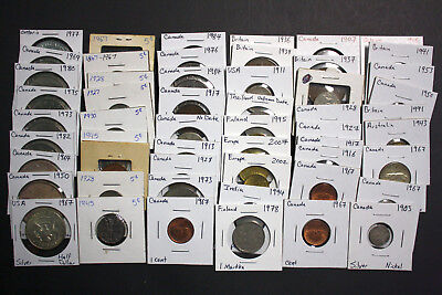 Canada - Silver Coins - World Coins - Large Cents - Huge Lot of Old Coins!