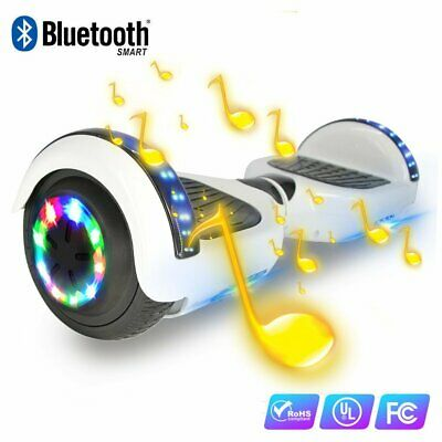 "HOVERBOARD 6,5"" OVERBOARD LED BLUETOOTH Bianca 500watt autobilanciati Scooter"