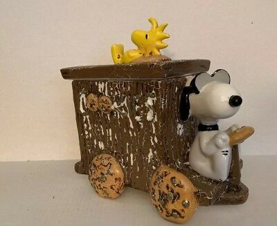 Rare Peanuts~ Snoopy & Woodstock Chocolate Chip Cookie Jar Truck Limited Edition