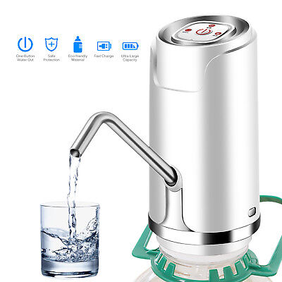 Electric Water Pump Bottled Dispenser Portable Gallon Drinking USB Rechargeable