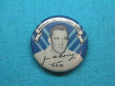 1950-51 NSW AUSTRALIA CRICKET CLUB SERIES TEAM PLAYER TIN BACK BADGE No6