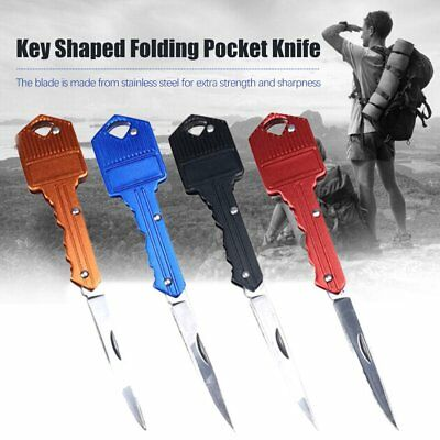 Mini Key Folding Knife Stainless Steel Blade Utility Portable Keychain Pocket RM