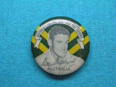 1950-51 NSW AUSTRALIA CRICKET CLUB SERIES TEAM PLAYER TIN BACK BADGE No19