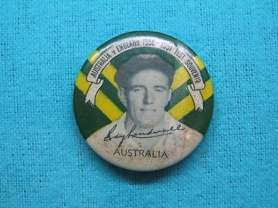 1950-51 NSW AUSTRALIA CRICKET CLUB SERIES TEAM PLAYER TIN BACK BADGE No20