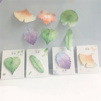 Natural Plant Leaf Cute Memo Pad Sticky Notes Notepad Kawaii Stickers Message