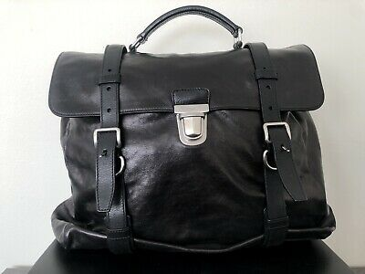 PRADA Fold Business Tote Briefcase in Black Nappa Leather Limited Ed VR0045 b94f098a44