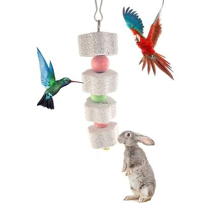 Pet Hamster Rabbit Parrot Bird Calcium Teeth Grinding Stone Chew Accessory Toys