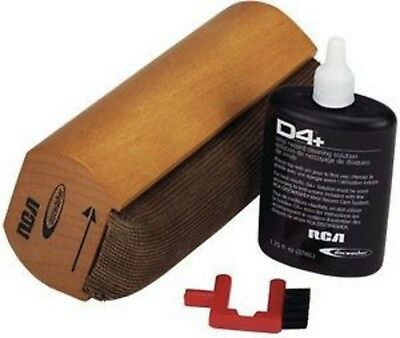 Vinyl Record Cleaning Pad Kit w/ Cleaner Fluid Dust Brush Handy Storage Pouch