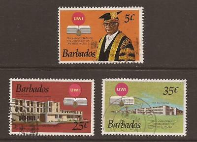 BARBADOS 1973 SG476/478 25th Anniv of University  West Indies Fine Used (WJ387)
