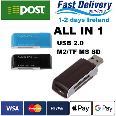 Card Reader All in 1 USB 2.0 Micro SD SDHC TF M2 MMC MS PRO DUO