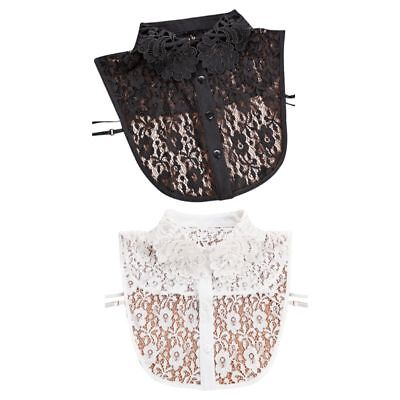 Women Blouse Sweater Round Neck Fake False Collar Detachable Lace Half Shirt HOT