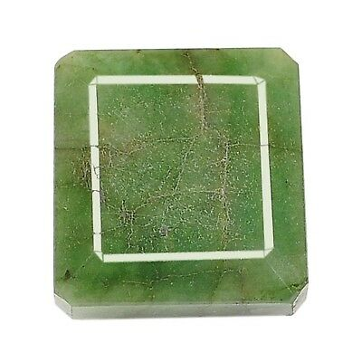 302.00Ct Natural Green Emerald Octagon Shape Loose Gemstone With Certificate