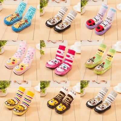Cartoon Baby Girl Boy Toddler Kids Anti-slip Crawling Socks Shoes Slipper Boots