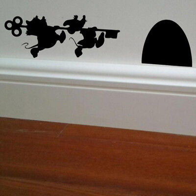 Home Decor Wall Sticker Living Room Bedroom Mouse Holes Decal Decor LH