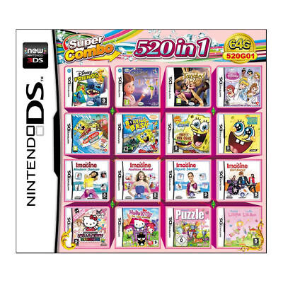 520 in 1 Games Card For Nintendo NDS NDSL 2DS 3DS NDSI Super Combo Cartridge USA