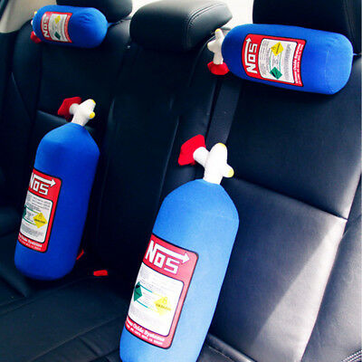 Pillow Plush Turbo JDM Toy 28x10cm NOS Nitrous Oxide Bottle Tank Shape Car Home