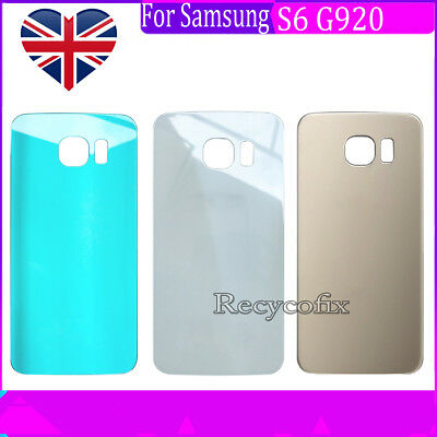 For Samsung Galaxy S6 G920F Rear Back Glass Battery Cover Replacement