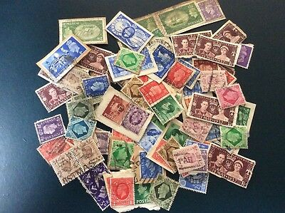 Stamps GB Mixture, pre QE