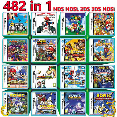 482 In 1 Video Game Card Cartridge Console For Nintendo 2DS 3DS NDS NDSL NDSI X1