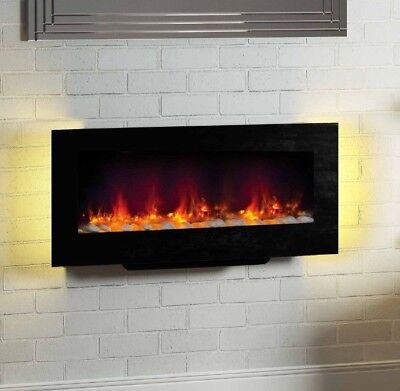 Be Modern 2kw Amari Wall Mounted Electric Fire Remote Control