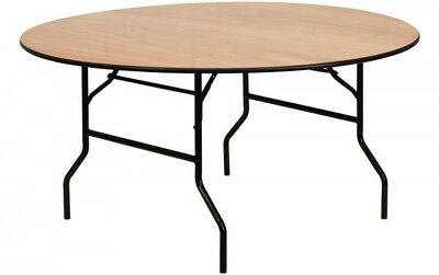 Wooden 6ft Round Folding Table