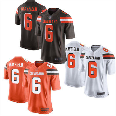 917df55661f Men s Cleveland Browns 6  Baker Mayfield Jersey Brown White Orange