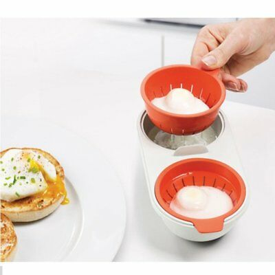 Portable Microwave Oven Egg Cooking Cup Egg Bolier Eggs Poacher with Lid Q