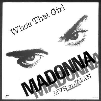 Madonna Who's That Girl Live In Japan Mitsubishi Special 1987 Laserdisc LD 1594