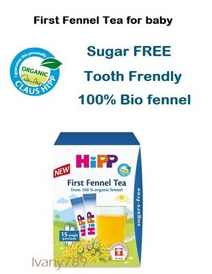 Hipp Baby 100% organic Fennel Tea x15 Healthy drink for babies,Sugar - FREE