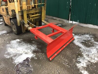 forklift truck snow plough attachment with 1250mm - 2000m