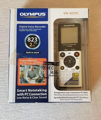 Olympus VN-405PC Digital Voice Recorder, Dictaphone.