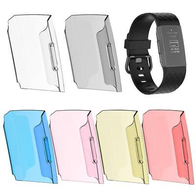For Fitbit Charge 3 Transparent Hard PC Shell Bumper Protective Case Cover