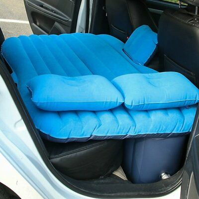 Multifunctional Car Mattress Inflation Bed Back Seat w/ Air Pump Two Pillows AQ