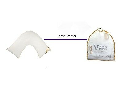 1/2X Luxury V shaped Goose Feather & Down Orthopedic Nursing back Support Pillow